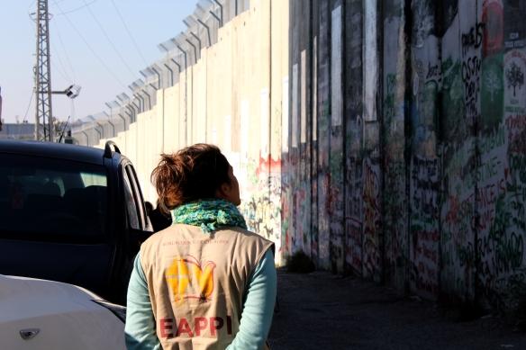 24.12.15, EA Paula Fogel, Seperation barrier, Bethlehem. EAPPI_A.Dunne