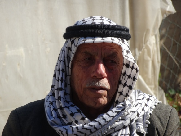 (PHOTO A) 09.12.15. Baddala, Jordan Valley, Palestine. Village leader - Abdullah Sawafta. Photo EAPPI/P. Longden