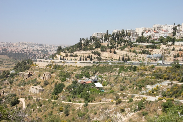 06.05.15 Jerusalem, View of Palestinian village of Lifta in the valley and Israeli neighbourhood of Romema on the hilltop in northwest Jerusalem. Photo EAPPI/I. Tanner