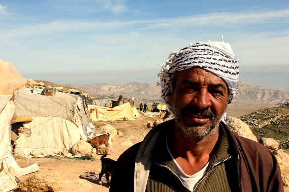 01.02.16, Nablus, Suleiman S, resident of Ein Ar Rashash Bedouin community facing imminent demolition, Photo EAPPI/A. Dunne