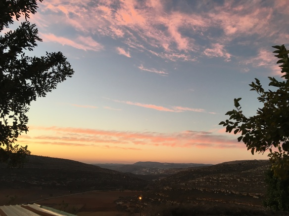10.12.15 Yanoun. Sunset after the evening walk. Photo EAPPI G.Kerr-Sheppard
