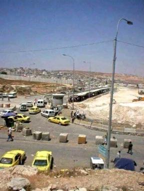 Jerusalem Qalandia Checkpoint. . Photo F. Salah.