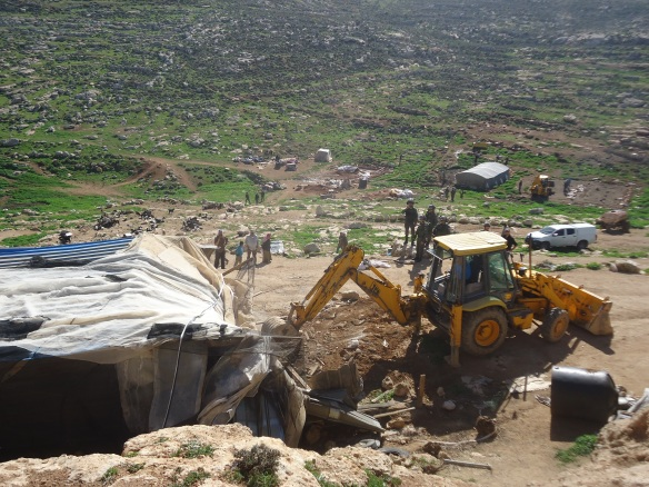 15.02.16. Nablus, Ein ar Rashash. Demolition of Bedouin village. Photo EAPPI/ P Fogel