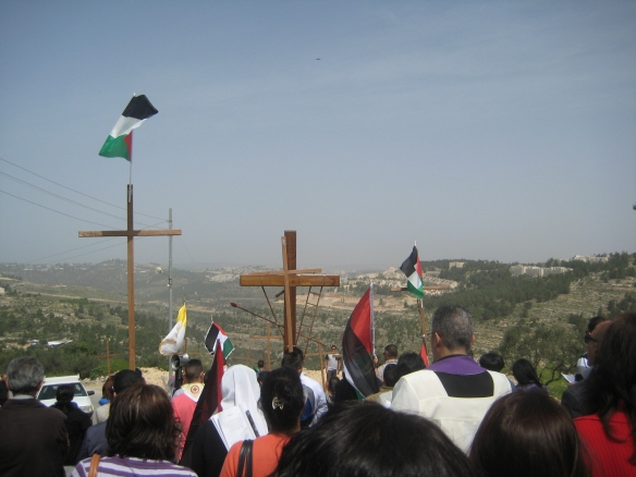 25.03.16 Cremisan valley Good Friday procession. Photo EAPPI/K. Fox