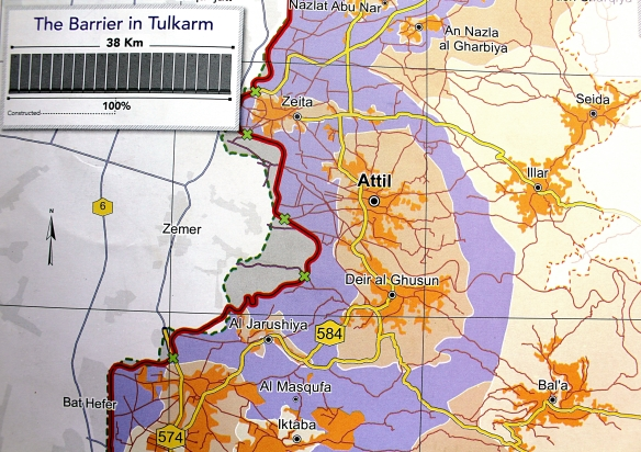 UNOCHA oPt map demarcating the seam zone