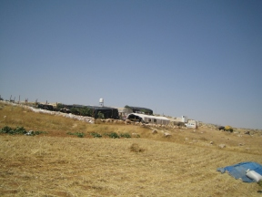 01.06.16 Wadi J'Hesh, Before the three structures were demolished. EAPPI/S. Ntombeni