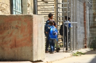 Hebron, Checkpoint 56. Palestinian children crossing checkpoint. Photo EAPPI/Leme. 06.09.2015.