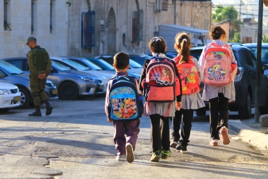 Children on their way to Cordoba School. Hebron.Photo EAPPI/Leme. 06.09.15.