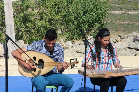 Members of the Nassar Family playing traditional music EAPPI/ J. OShea. 12.05.2016