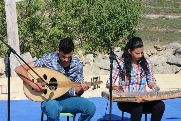 Members of the Nassar Family playing traditional music EAPPI/ J. OShea. 12.05.2016