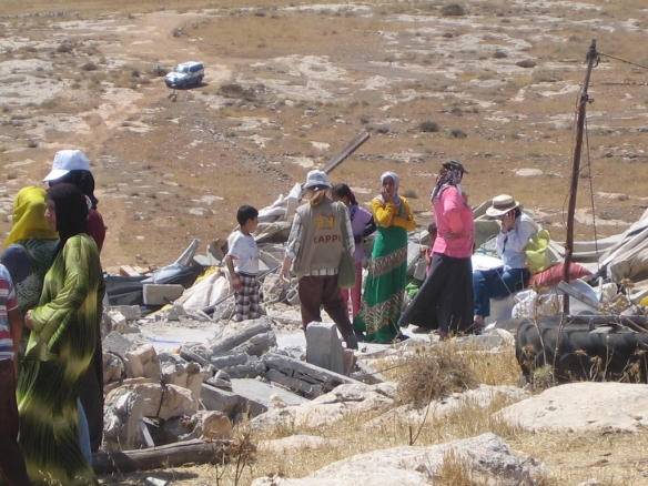 20.06.16, Families next to the rubble of their demolished homes. EAPPI/S. Ntombeni