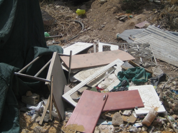 08.06.16, Wadi al Joz, The rubble left after the demolition of the Amro families' home, EAPPI/Siphiwe