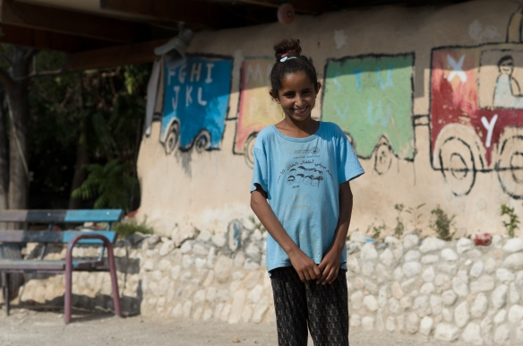 Khan Al Ahmar. Thirteen year old Nasreen a student from the school and wants to be a teacher.Photo EAPPI 11.08.16