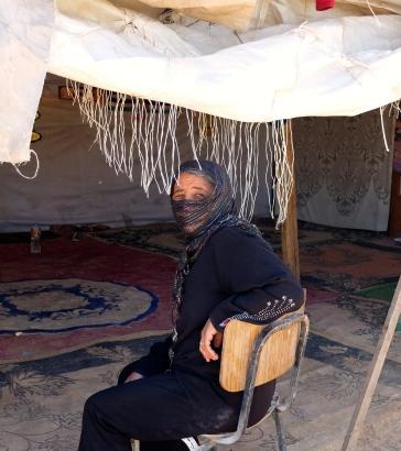Bedouin woman Husun Ali sits by her tent Khan Al Ahmar Jerusalem photo EAPPI/Emily. 11.06.2016