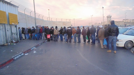 Long queues at Qalandiya checkpoint. Photo EAPPI/N. Nkosi 25.11.2014