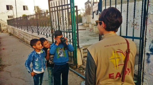 08-11-2016 Sd-Duheisha Camp, Bethlehem. Boys in Ad-Duheisha Camp are curious about our presence there, and ask for pictures. EAPPI Elina.JPG