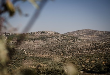 12.10.2016 The illegal settlement Itamar at centre left. Yanoun is located on the other side of the hills to the right. One can see the scattered «outposts» of Itamar. EAPPI-RW (6 of 10).jpg