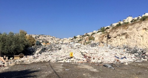 26.10.16, Silwan, the remains of the 4 apartments demolished, Photo EAPPI.